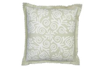 Sandor Applique Siófok pillow - White on Shell White