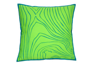 Sandor Applique Rosewood Pillow sandor-PI-352