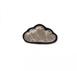 MACON & LESQUOY SMALL CLOUD PIN (SILVER)