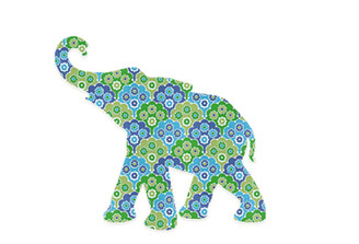 WALLPAPER WILDLIFE BABY ELEPHANT by Inke Heiland wm-babyelephant-0036
