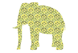 WALLPAPER WILDLIFE ELEPHANT by Inke Heiland wm-elephant-0185
