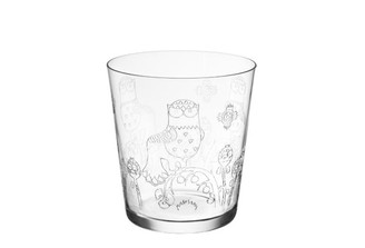 (Set of 4) IITTALA TAIKA TUMBLER SET ETCHED GLASS, 13.5 oz.