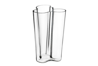 "Iittala Alvar Aalto Collection Finlandia Vase 10"", Clear"