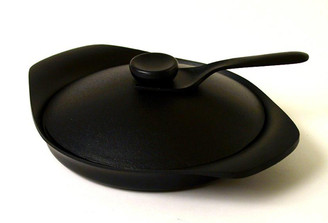 NAMBU IRON GRILL PAN (with lid and handle) designed by Sori Yanagi