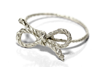 SILVER FORGET ME KNOT RING by Kiel Mead