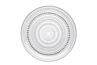 "(Set of 4) Iittala Kastehelmi Plate Clear 9.75"" x 1"""
