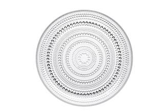 """(Set of 2) Iittala Kastehelmi Plate Clear 9.75"""" x 1"""""""