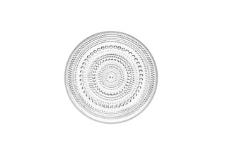 "(Set of 4) Iittala Kastehelmi Plate Clear 6.75"" x .75"""