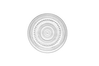 """(Set of 2) Iittala Kastehelmi Plate Clear 6.75"""" x .75"""""""