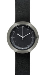 NORMAL TIMEPIECES- FUJI WATCH (Black Face with Leather or Nylon Band)