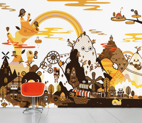 SCENIC WALLPAPER- Banoffee peaks autumn designed by Tado
