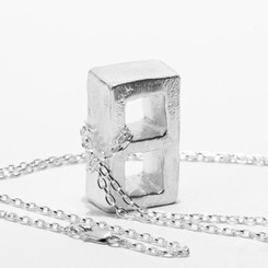 KIEL MEAD CINDERBLOCK NECKLACE (GOLD OR SILVER)