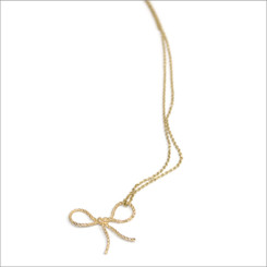 KIEL MEAD FORGET-ME-KNOT NECKLACE (GOLD OR SILVER)
