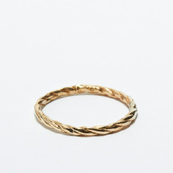 KIEL MEAD MEDIUM ROP RING (GOLD OR SILVER)