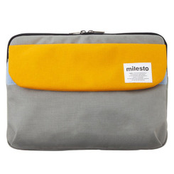 "MILESTO 13"" LAPTOP CASE YELLOW / GRAY"