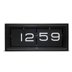 LEFF Brick Wall/Desk Clock with Black Dial and Black Steel Case