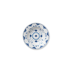 Royal Copenhagen Blue Fluted Full Lace Rim Soup Plate 9 in