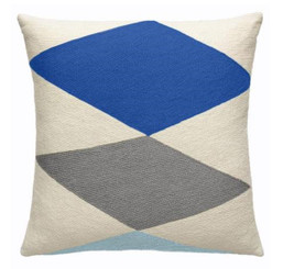 JUDY ROSS WOOL PILLOW- ACE (cream/marine/dark grey/powder blue)