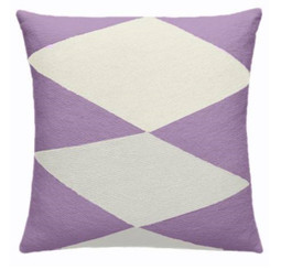 JUDY ROSS WOOL PILLOW- ACE (lilac/cream)