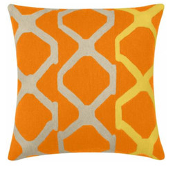 JUDY ROSS WOOL PILLOW- ARBOR (melon/oyster/yellow)