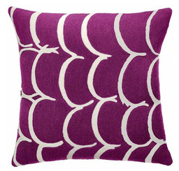 JUDY ROSS WOOL PILLOW- BANGLE (claret/cream)