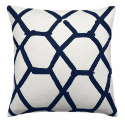 JUDY ROSS WOOL PILLOW- JALLI (cream/navy)