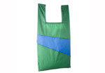 THE NEW SHOPPINGBAG (LARGE) design by Susan Bijl- Blue + Green