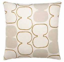 JUDY ROSS WOOL PILLOW- TABLA OUTLINED(cream/gold rayon/oyster)