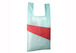 THE NEW SHOPPINGBAG (LARGE) design by Susan Bijl- Light Blue + Red