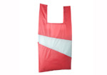 THE NEW SHOPPINGBAG (LARGE) design by Susan Bijl- Red + Light Blue