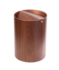 WALNUT WASTE BIN by Saito Wood (TS374)