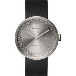 LEFF AMSTERDAM TUBE WATCH D42 STEEL/BLACK STRAP