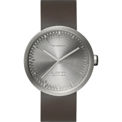 LEFF AMSTERDAM TUBE WATCH D42 STEEL/BROWN STRAP