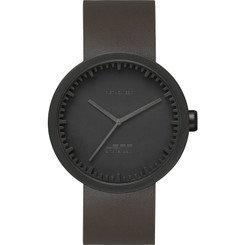 LEFF AMSTERDAM TUBE WATCH D42 BLACK/BROWN STRAP