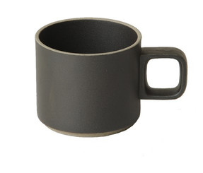 Hasami Porcelain Mug Set of 2 Black (11 oz) 3.1/3 x 2.7/8 (HPB019)