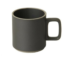 Hasami Porcelain Mug Set of 2 Black (13 oz) 3.1/3 x 3.1/2 (HPB020)
