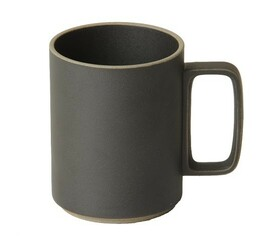 Hasami Porcelain Mug Set of 2 Black (15 oz) 3.1/3 x 4.1/8 (HPB021)