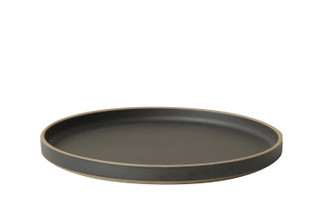 Hasami Porcelain Plate (Lid) Set of 2 Black 10 x 7/8 (HPB005)