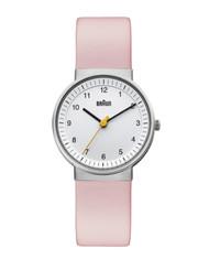 Braun - Ladies' BN-31WHLPKL White dial, Pink leather band