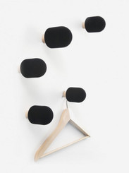 MICRO COAT HOOKS BLACK (SET OF 5) BY BIG-GAME