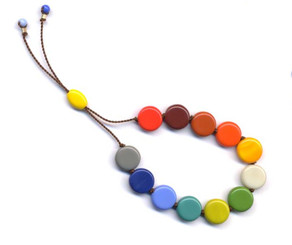RED GREEN BLUE MULTI TABLET BRACELET by I. Ronni Kappos