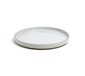 Hasami Porcelain Plate (Lid) Set of 2 Gloss Grey 5.2/3 x 7/8 (HPM002)