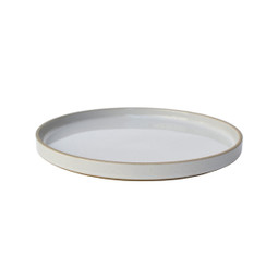 Hasami Porcelain Plate (Lid) Set of 2 Gloss Grey 8.2/3 x 7/8 (HPM004)