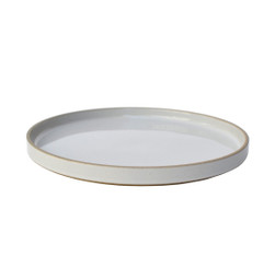 Hasami Porcelain Plate (Lid) Set of 2 Gloss Grey 10 x 7/8 (HPM005)