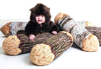 TREE LOG BOLSTER PILLOW by Chic Sin Design