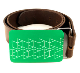 BELT BUCKLE (GREEN) by Handmade in Texas