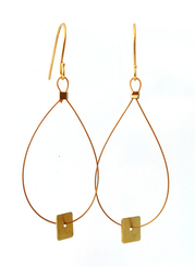 BRASS MINI SQUARE EARRINGS