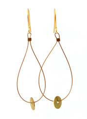 BRASS MINI CIRCLE DISK EARRINGS