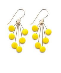 Yellow Tablet Cluster Earrings by I. Ronni Kappos (IRK Jewelry)