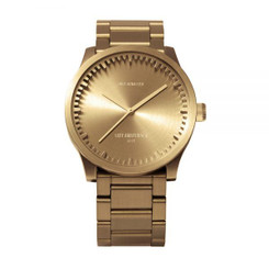 LEFF AMSTERDAM tube watch S38 – brass 38mm